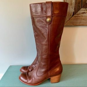 Gorgeous! Coach Fayth Chocolate Brown Riding Boots